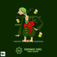 Roronoa Zoro Wayang One Piece - Straw Hat Pirates by Manzur Ghozaali, via Behance
