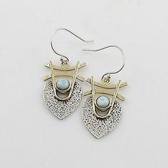 Larmiar Sterling Silver Two Tone Earrings