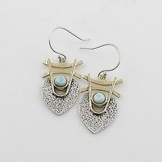 Larmiar Sterling Silver Two Tone Earrings