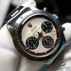 """Rolex """"Paul Newman"""" Daytona with characteristic subdial numerals and block indices, Tiffany and Co. dial"""