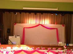 backdrop for ceremony?