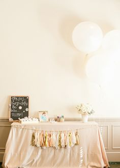 Pink and Gold baby shower for twin girls
