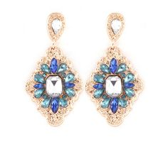 Arie Earrings in Blue Crystal on Emma Stine Limited
