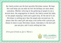 We've had people ask what the note said the we included in the cards for the Windsor Downtown Mission. Here it is. #yqg #yqgfood #teamleeandmarias #ymap