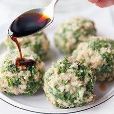 Turkey meatballs and kale Snack Recipes, Healthy Recipes, Healthy Meals, Polish Recipes, Polish Food, My Cookbook, Turkey Meatballs, Kale, Dairy Free