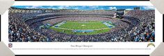 #SanDiego #Chargers #Qualcomm #Stadium #NFL #Football #HomeDecor #OfficeDecor #Art #Gifts #California #CA #Professionally #Framed #Poster #Picture