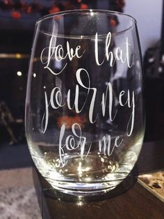 Love That Journey For Me Glass - Schitts Creek Glass - Best friends gift, mean girls gift, wine lover, sassy wine glass Best Friend Gifts, Gifts For Friends, Merry Christmas, Christmas Gifts, Holiday, Mean Girls, Wine Gifts, Custom Engraving, Gift For Lover