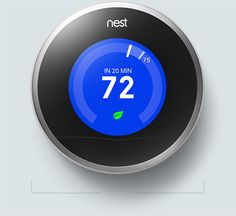 """Nest Thermostat - """"Programs itself so you don't have to."""" The thermostat that learns your personalized temperature schedule and optimizes your home's temperature. Changing the temperature one degree can reduce your energy use up to 5%, and Nest does it for you! It even connects to your smartphone, so you can adjust temperatures miles from home. Learn more about the learning thermostat that will save your home money."""