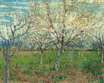 Vincent van Gogh: The Pink Orchard. Meant to be part of a triptych with The Pink Peach Tree and The White Orchard. Van Gogh Museum, Amsterdam.