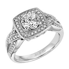 ArtCarved  Diamond Engagement Ring. IN-STOCK at BECKER JEWELERS.