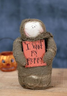 Honey and Me Halloween Doll Roly Poly Mummy Primitive Fall Decor 8 inch #HoneyandMe #Halloween Primitive Halloween Decor, Primitive Fall, Halloween Home Decor, Halloween House, Halloween Decorations, Halloween Doll, Bowl Fillers, Wood Signs, Fall Decor