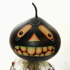 Gourd Halloween Gourd Head Haunted Swamp by Hauntedswampdesigns