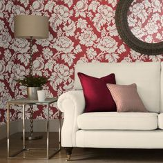 Wildflower Wallpaper is a bold and stunning floral damask design featuring flowers and fruit.  Luxurious and extremely elegant, it is a versatile choice for revitalising any living space.  Available in a range of colours.  FREE delivery Australia wide.  Available from www.silkinteirors.com.au #wallpaper #wallpaperforwalls #damask Wallpaper Panels, Fall Wallpaper, Wallpaper Samples, Botanical Wallpaper, Flower Wallpaper, Spotted Wallpaper, Decorating Your Home, Interior Decorating, Buy Wallpaper Online