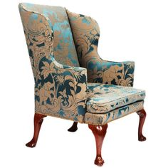 George I Upholstered Wingback Armchair | From a unique collection of antique and modern wingback chairs at http://www.1stdibs.com/furniture/seating/wingback-chairs/