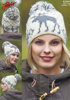 Like elks? Knit this cool hat.