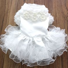 2015 Pet dog Wedding dress Cat Puppy Princess Skirt clothes Pearls&Fungus Lace design 5 sizes-in Dog Dresses from Home & Garden on Aliexpress.com | Alibaba Group