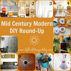 A collection of Mid Century Modern DIYs Mid Century Art, Mid Century Decor, Mid Century House, Mid Century Style, Mid Century Modern Design, Mid Century Modern Furniture, Deco Retro, Crafty Craft, Crafting