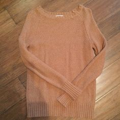 Camel Colored Sweater A staple piece for every winter wardrobe!  This sweater is perfect for layering over your chambray!  Excellent condition! Merona Sweaters Crew & Scoop Necks