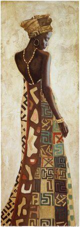Kunst Bilder ideen - Femme Africaine III by Jacques Leconte - Beste Art Pins Black Girl Art, Black Women Art, Afrique Art, African Art Paintings, Black Artwork, Inspiration Art, Afro Art, African American Art, Oeuvre D'art