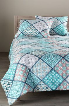 Nordstrom at Home 'Mediterranean Tiles' Comforter available at #Nordstrom
