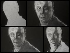 A3 Charcoal Drawing. Chief Wayne Unser, SOA (Dayton Callie)