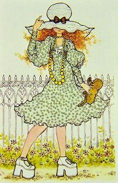 .: ILUSTRAÇÕES SAHA KAY Sarah Key, Mary May, Creation Art, Vintage Drawing, Holly Hobbie, Australian Artists, Character Drawing, Vintage Pictures, Vintage Cards
