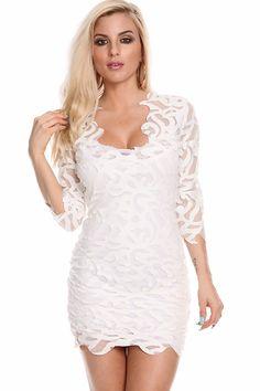 little white dress#white party dress#sexy mini dress#sexy party ...