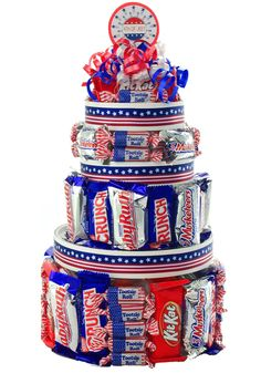 fourth+of+july | 4th of July Candy Cake - You Care Packages