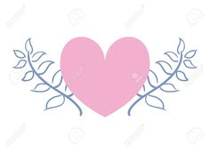 love romantic heart flowers decoration vector illustration , #Sponsored, #heart, #romantic, #love, #flowers, #illustration