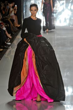 Every girl wants and needs an outrageous dress like this one. From Chado Ralph Rucci Spring 2013