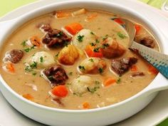 Nyírség potato dumpling soup - My Shop Hungarian Cuisine, Hungarian Recipes, Soup Recipes, Cooking Recipes, Healthy Recipes, Dumplings For Soup, Veggie Soup, Breakfast Time, No Cook Meals