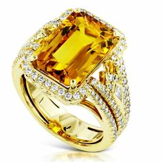 A one of a kind Golden Yellow Thai Sapphire by Kat Florence.