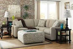99 Comfortable Ashley Sectional Sofa Ideas for Living Room - Ashley Sectional, Small Sectional Sofa, Living Room Sectional, Cozy Living Rooms, Sofa Set, Living Room Furniture, Home Furniture, Living Room Decor, Vintage Decor