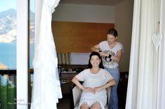 Bridal hair in Garda Lake preparation