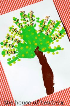 A Tree of Gratitude - includes a character-building lesson with each step of this activity. Uses handprints as branches, fingerprints as leaves, forearm as a trunk and cereal to express our thankful hearts. Cute idea to make a family tree. Thanksgiving Activities, Thanksgiving Crafts, Craft Activities For Kids, Preschool Crafts, Holiday Crafts, Crafts For Kids, Craft Ideas, Preschool Kindergarten, Preschool Learning