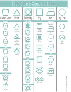 How To Properly Wash Everything! Learn What Those Symbols Mean!