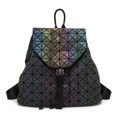 Promotion price 2017 New Luminous BaoBao backpack female Fashion Girl Daily backpack Geometry Package Sequins Folding Bags school bags With logo just only $33.18 with free shipping worldwide  #backpacksformen Plese click on picture to see our special price for you