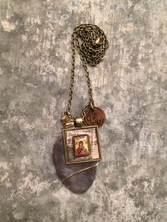 One of a Kind Unique Mixed Media Vintage by ChickenandOnion, $45.00