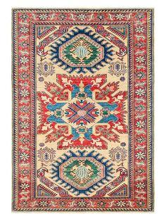 "Gilt $845  Kazak Hand-Knotted Rug (4'1""x5'10"") by Bashian Rugs at Gilt"