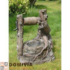 Brunnen, Steinoptik, Mit Deko Seilwinde Garten Outdoor L54xB45xH64 Cm