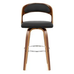 Alicia Walnut Bar Stool Black - Atlantic Shopping