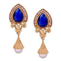 Buy Marvelous Blue Metal Alloy Earrings Online