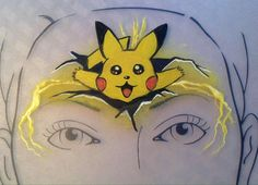Pikachu Face Painting, Face Painting Games, Face Painting For Boys, Face Painting Designs, Pokemon Party, Pokemon Birthday, Pokemon Go, Pokemon Faces, Cute Faces
