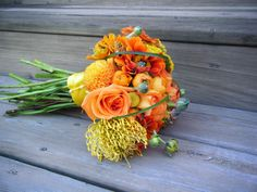 Persimmons Wedding with Ranunculus -By Amanda The Flower Girl- Serving all of Metro Detroit