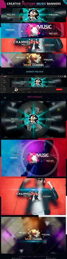 Youtube Banner Design, Youtube Design, Youtube Banners, Music Logo, Dj Music, Radios, Banners Music, Channel Branding, Gaming Banner