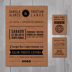 Invitación Kraft - Save the date - Tarjeta de regalo