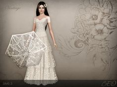 Vintage Wedding Dress 38 by BEO - Sims 3 Downloads CC Caboodle