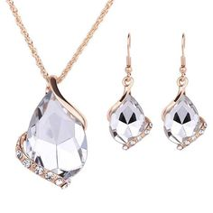A Suit of Graceful Artificial Crystal Water Drop Jewelry Necklace and Earrings For Women || http://www.thefunstuffshop.com/product/suit-graceful-artificial-crystal-water-drop-jewelry-necklace-earrings-women/ || #thefunstuffshop #metrofashion #sassy #standout #metromakati #femmefatale #fashionstatement #onlineshop #shopping #hotdeals #greatdeals
