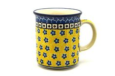 Polish Pottery Mug  Straight Sided  Sunburst -- You can find out more details at the link of the image.