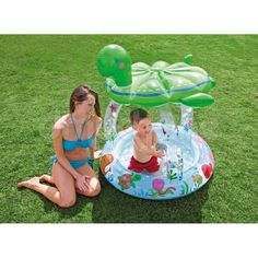 İntex 57119 Kaplumbağa Gölgelikli Bebek Havuzu - Yumurcak Dünyası Oyuncakları